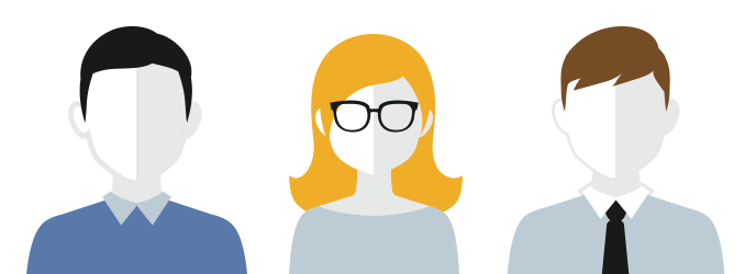 two-tone people illustration